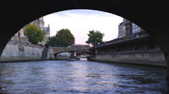 View of Notre Dame de Paris Cathedral UltraHD Stock Footage