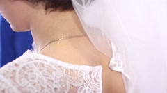 Girls clasp a dress - stock footage