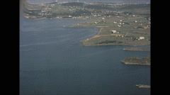 Vintage 16mm film, 1965, UK, aerial over England Stock Footage