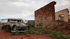 Ruins in Broken Hill, New South Wales, Australia Stock Footage