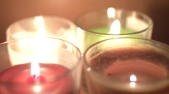 Candles in the night Stock Footage