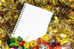 Christmas or New Year background - stock photo