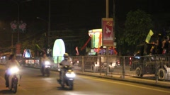 Night festival mid-autumn festival, tour festival scene Stock Footage