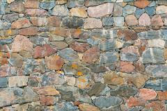 Old Medieval Stone Wall Background Texture - stock photo