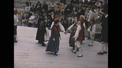 Vintage 16mm film, 1965, Sweden, traditional children dance #4 - stock footage