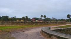 Castillo De San Marcos St Augustine  - stock footage