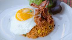 American fried rice - stock photo