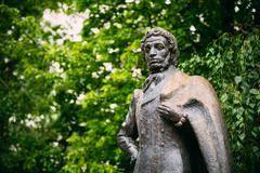 Monument great poet Alexander Pushkin in Moscow, Russia - stock photo