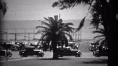 1934: View from the historic White House Hotel on gulf coast. BILOXI, Stock Footage