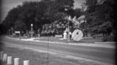 1934: Car bus travel along coastal road beachside resort area. BILOXI, - stock footage