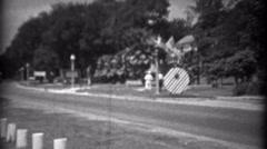 1934: Car bus travel along coastal road beachside resort area. BILOXI, Stock Footage