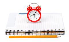 Service time while clock morning beginning Stock Photos