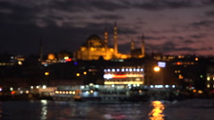 A classical Istanbul Turkey scene defocused Stock Footage