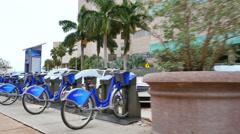 Citibike rantal Downtown Miami Stock Footage