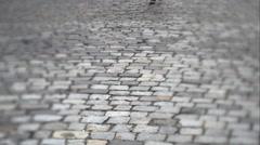 Man walking on a stone slab Stock Footage