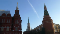 Moscow Kremlin tower three Stock Footage
