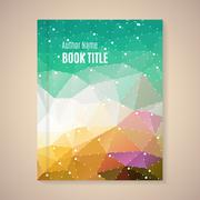 Vector template for book title - stock illustration