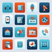 Communication icon set Stock Illustration