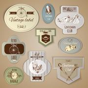 Gentleman Labels Set Stock Illustration