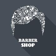 Barber Shop Concept Stock Illustration