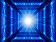 Futuristic light in tunnel Stock Photos