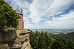 Monastery Mont SainteOdile Ottrott BasRhin Alsace France Europe - stock photo