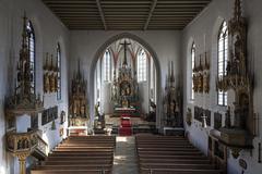 Stock Photo of Interior parish church of St John the Baptist NeoGothic Bad Hindelang Allgau