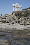 Temple of Apollo Side Side Belediyesi Antalya Turkey Asia - stock photo