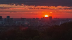 Timelapse video footage of the morning sunrise Stock Footage