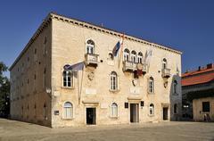 Town hall Trogir Dalmatia Croatia Europe Stock Photos