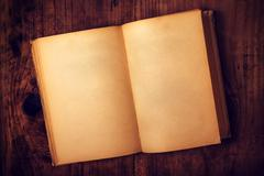 Old book with blank pages Stock Photos