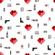St. Valentines Day Symbols mens Accessories Pattern Stock Illustration