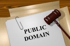 Public Domain concept Stock Illustration