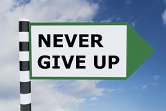 Never Give Up concept Stock Illustration