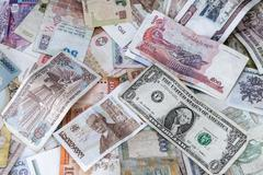 Background of banknotes Stock Photos