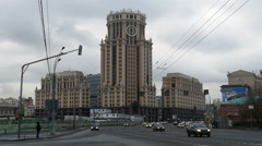 High-rise building (office center) in Moscow on Paveletskaya - stock footage