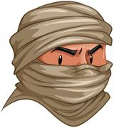 Terrorist covered his face with cloth Piirros
