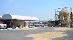 Thai people building Big Buddha Stock Footage