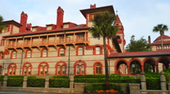 Flagler College St Augustine FL 4 - stock footage