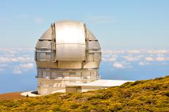 Stock Photo of Astronomical Observatory Telescope