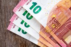 Stock Photo of Ten euros notes