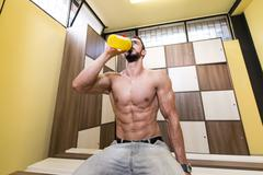 Keeping Himself Hydrated - stock photo