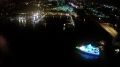 Aerial HD footage of jupiter boat parade 2014 Stock Footage