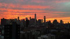 World Trade Center NYC Sunset Skyline Stock Video Stock Footage