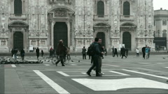 The historic  Cathedral  of Milan Stock Footage
