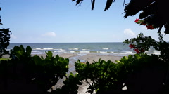 View on the sea from mainland of Ometepe Ometepe Stock Footage
