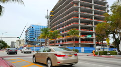 Four Seasons The Surf Club construction site - stock footage