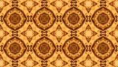 Beautiful and Unique Psychedelic Kaleidoscope of Liquid Gold Shapes Stock Footage