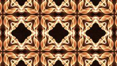 Beautiful and Unique Psychedelic Kaleidoscope of a Golden Brown Mystique Shapes Stock Footage