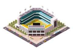 Vector isometric baseball arena Stock Illustration